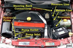saab 9-3 power steering fluid change